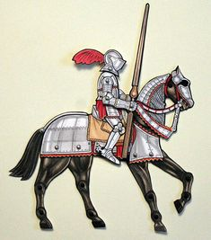 Knight and horse armor articulated paper doll. Inspired by the Cleveland Museum of Art, Armor Court.