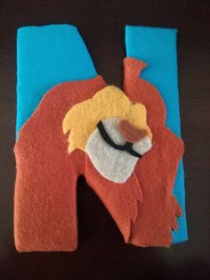 "Lion King name letters wrapped in fabric! Mufasa ""N"""