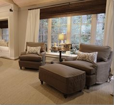 Chairs, table & window treatments