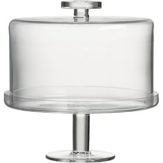 Footed Cake Dome, Crate and Barrel.  A gorgeous, modern gem that looks great in any kitchen.  Love it!