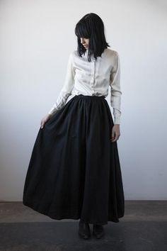 Florence Linen Skirt - Black
