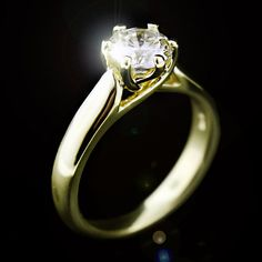 Yellow gold perfection! Calista Solitaire Engagement Ring...