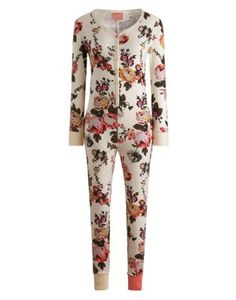 Joules null Womens Onesie, Creme Floral. An all-in-one sleep suit made for making cold nights in cosier. Great for sleeping in style and chilling out in those chilly months. In a super-soft and stretchy fabric with details and a print beyond compare. #joules #wishlist #christmas