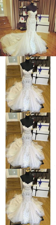 Wedding Dresses: Mermaid Appliques White Ivory Wedding Dress Bridal Gown Custom4 6-8-10-12-14-16+ -> BUY IT NOW ONLY: $115.99 on eBay!