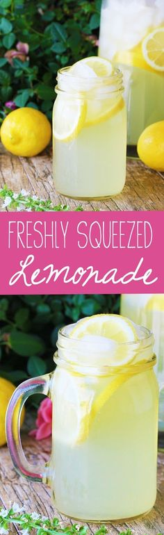 Learn how to make old fashioned, freshly squeeze homemade lemonade using real…