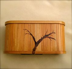 Handmade Walnut and Cherry Wooden Jewelry Box, High End Jewelry Box. $1,800.00, via Etsy.