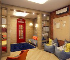 детская комната для мальчика в английском стиле