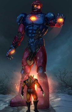 Wolverine vs The Sentinels Wolverine Comics, Marvel Comics Art, Avengers Comics, Hq Marvel, Marvel Comic Universe, Marvel Heroes, Marvel Comic Character, Marvel Characters, Comic Book Characters