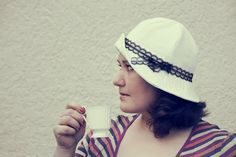 8800ebfa Made to order white linen summer hat woman cloche hat by nathings Types Of  Hats,