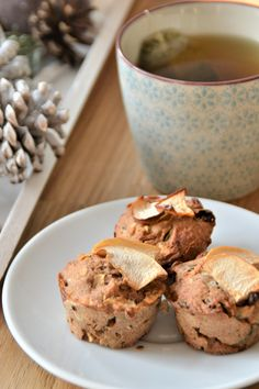 VEGAN APPLE MUFFINS made of organic products from Adamah Biohof and Lieferei <3