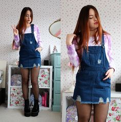 Yesstyle Denim Pinafore