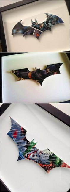 Comic book wall art that is just perfect for your little Batman Jr. Comic Books Art, Comic Art, Book Art, Comic Book Crafts, Héros Dc Comics, 3d Laser Printer, Art Projects, Projects To Try, Diy And Crafts