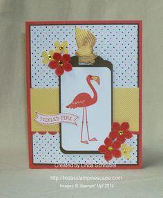 Flamingo Lingo Stamp Set from Stampin' Up!  http://lindasstampinescape.com