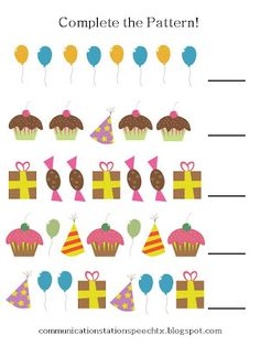 Birthday Patterns  - Pinned by @PediaStaff – Please Visit ht.ly/63sNtfor all our pediatric therapy pins