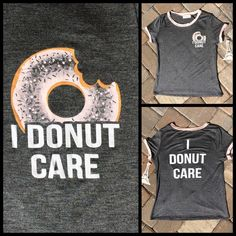 ADORABLE T-SHIRT WITH ATTITUDE Available in S,M, & L. Grey with cotton candy pink trim, beautiful fabric, 95%rayon, 5% spandex, made in the USA NWT Tops