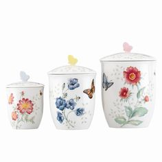 Found it at Wayfair - Butterfly Meadow 3 Piece Canister Set