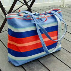 f56fc3fab8 Love this!! Handmade Knock Off Vera Bradley Anchor Beach Bag