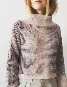 Materiale: Lana Cotton og Kunstgarn Størrelse: S/M (L/XL) Brystvidde og længe:… Knitting Designs, Knitting Patterns, Knitting Ideas, Knit Or Crochet, Knitwear, Jumper, Style Inspiration, Pullover, Instagram Posts