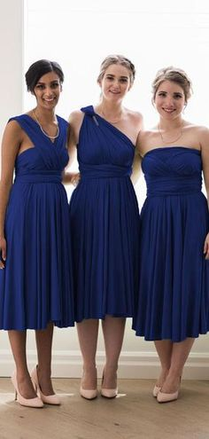 Personal popular girls will probably be ready for a full day of celebration with these standout collection of bridesmaid clothes. Light Pink Bridesmaid Dresses, Royal Blue Bridesmaid Dresses, Bridesmaid Outfit, Royal Blue Dresses, Wedding Bridesmaids, Marine Uniform, Ladies Dress Design, Wedding Ideas, Wedding Themes