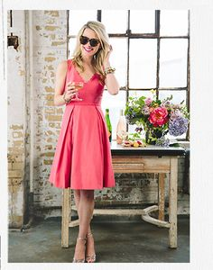 style   4 wedding guest looks   styled & modeled by blogger atlantic pacific   via: BHLDN