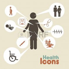 health icons  over beige background vector illustration