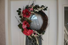 Personalized Grapevine Wreath by tinasboutiquehome on Etsy