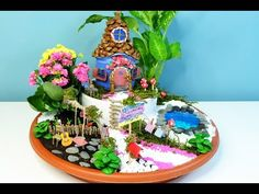 Fairy House DIY / Miniature Fairy Dollhouse with Cardboards and Air Dry Clay (No Furnitures Yet) - YouTube