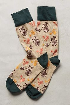 Penny-Farthing Crew Socks - anthropologie.com