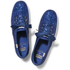 Keds x Kate Spade New York Champion Glitter Keds Blue Glitter ...