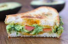 Guacamole Grilled Cheese Sandwich ~ Meatless Main Dishes