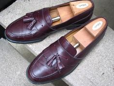 MASSIMO EMPORIO Used Burgundy Leather Dress Loafers 10