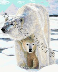Polar bear love cross stitch kit | Yiotas XStitch