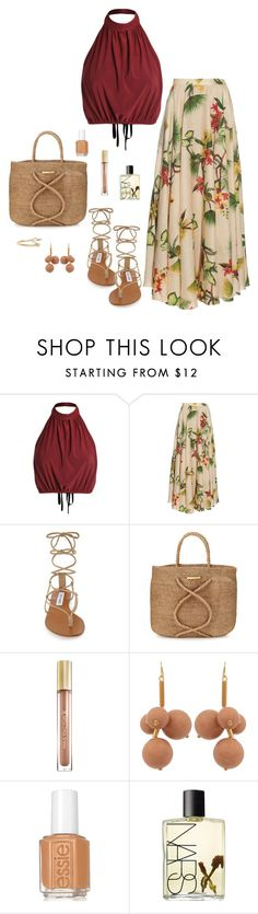 """Island dream"" by picassogirl ❤ liked on Polyvore featuring Isolda, Steve Madden, ViX, Max Factor, Marni, Essie, NARS Cosmetics and WWAKE"
