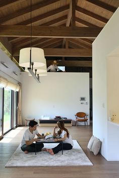 Image 5 of 17 from gallery of Cherry Blossom House / TRU Architects. Courtesy of TRU Architects Asian Interior, Modern Home Interior Design, Korean House, Modern House Plans, Simple House, Living Room Interior, Living Rooms, Minimalist Home, House Design