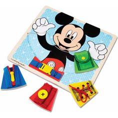 Melissa & Doug Disney Mickey Mouse Clubhouse Wooden Basic Skills Board, Black