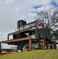 Building A Container Home, Container Buildings, Container Architecture, Container Houses, Container House Design, Architecture Design, Shipping Container Homes, Shipping Containers, Metal Containers