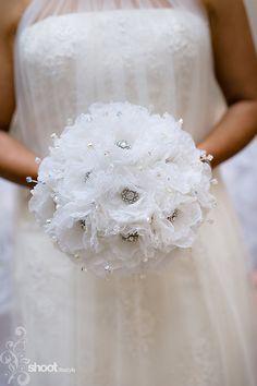 handmade organza flower design in white by mathepplestone on Etsy, $960.00