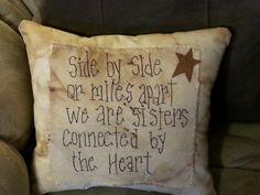 Primitive sisters pillow Ebay.com