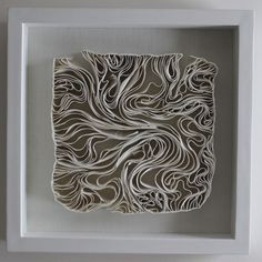 Fenella Elms - Ceramics Artist - Edges (porcelain clay ribbons)