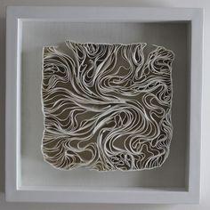 Fenella Elms - Ceramics Artist - Edges (porcelain clay ribbons)