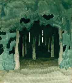 "Charles Burchfield, ""Untitled,"" Watercolor on paper. (Ask students, ""What devices did he use to show depth? Abstract Landscape, Landscape Paintings, Painting & Drawing, Watercolor Paintings, Guache, You Draw, Parcs, Nature Scenes, Art Fair"