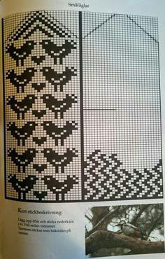 Småfåglar Crochet Mittens Free Pattern, Fair Isle Knitting Patterns, Knit Mittens, Knitting Charts, Graph Design, Chart Design, Fair Isle Chart, Knitting Books, Fair Isles
