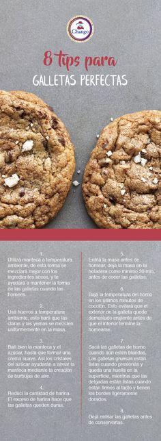 ¡Seguí estos 8 tips para unas galletas perfectas!  #Repostería #Cookies #bakery Cookies, Chocolate, Desserts, Food, Sweet Tables, Eggs, Oven, Crack Crackers, Tailgate Desserts