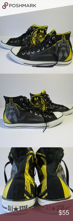0ea3c20b7 Converse DC Comics Batman High Top Sneakers sz 10 Converse DC Comics Batman  High Top Sneakers