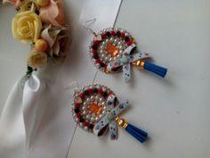 Folk#tassels#earrings