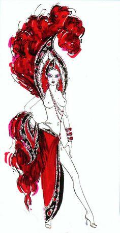 Bob Mackie Ruby Showgirl finale costume Jubilee