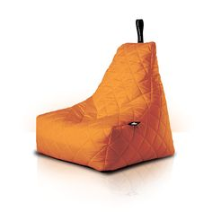 MightyB Outdoor Quilted Bean Bag Orange