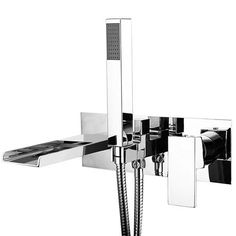 Includes shower handset, hose and holder Made from solid brass Chrome plated finish Ceramic disc technology Minimum pressure 2 bar 10 year guarantee