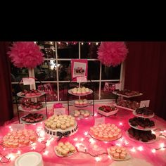 Dessert Bar at Bunco Night..... Fundraiser for Breast Cancer