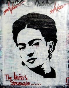 frida kahlo street art | London
